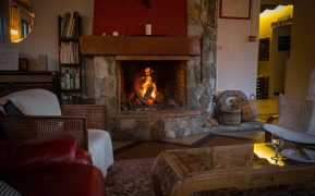Lauvitel Lodge Fireplace