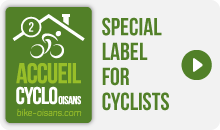 Accueil Cyclo Oisans Label 2 bikes - Special Label for Cyclists